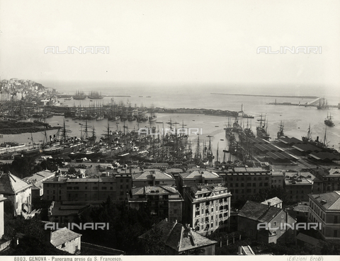 BGA-F-008803-0000 - View of Genoa's port from San Francesco