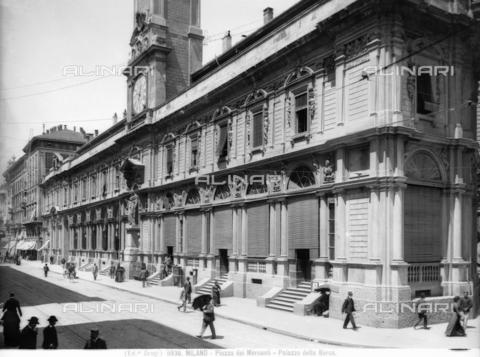 BGA-F-009936-0000 - Palazzo dei Giureconsulti , today Palazzo Affari; Former Palazzo Borsa (Stock Exchange Building), Piazza dei Mercanti, Milan
