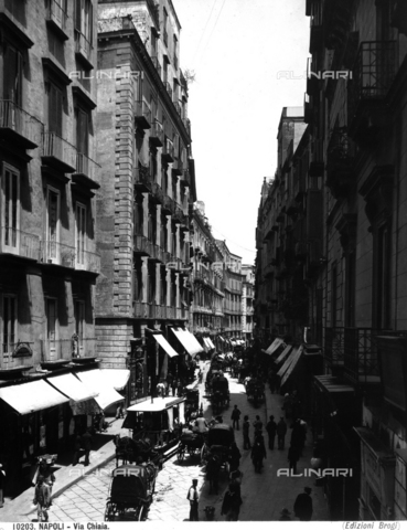 BGA-F-010203-0000 - View of the Via Chiaia (Chiaia Street) in Naples
