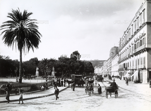 BGA-F-010245-0000 - Riviera di Chiaia in Naples with a view of the Villa Comunale.