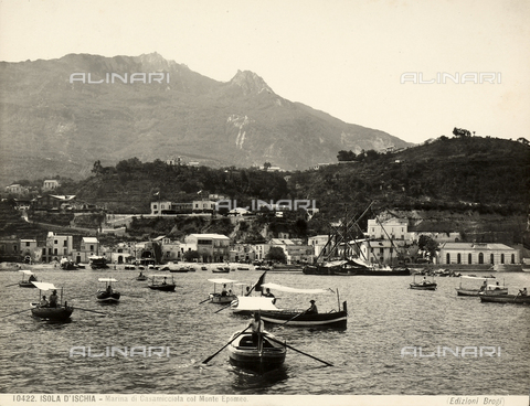 BGA-F-010422-0000 - Marina di Casamicciola on Ischia with Mount Apomeo in the background.