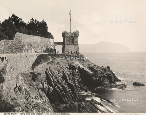 BGA-F-010499-0000 - The tower of Villa Serra-Grappolo near the town of Nervi, Genoa