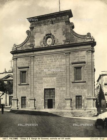 BGA-F-010817-0000 - Faà§ade of the Church of San Giorgio dei Genovesi, Palermo