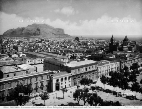 BGA-F-010844-0000 - Panoramic view of Palermo and Mount Pellegrino, photographed from the Pisan Tower, now location of the astronomical observatory