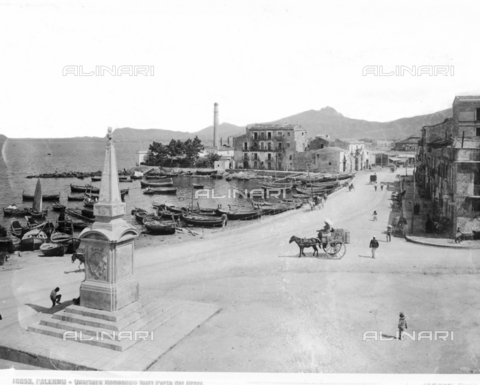 BGA-F-010853-0000 - View of the Romagna district outside Porta dei Greci in Palermo - Date of photography: 1900 ca. - Alinari Archives-Brogi Archive, Florence