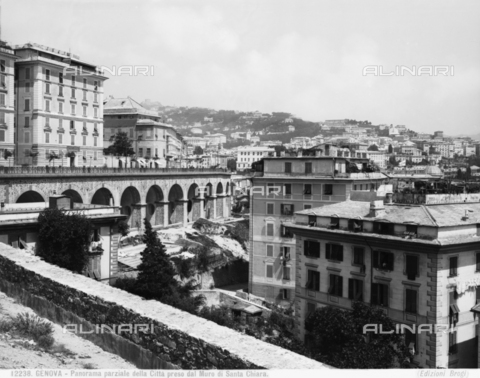BGA-F-012238-0000 - View of Genoa from the Santa Chiara walls.