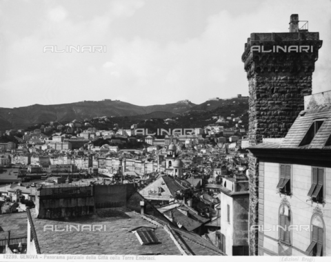 BGA-F-012239-0000 - View of Genoa with, on the right, the 12th century Embriaci Tower.