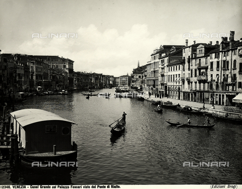 BGA-F-012346-0000 - The Grand Canal with Palazzo Foscari seen from the Rialto Bridge