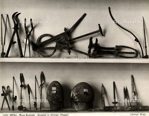 BGA-F-012487-0000 - Remains of surgical instruments found in Pompeii. National Archaeological Museum, Naples.