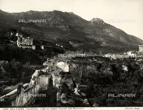 BGA-F-012589-0000 - View of the place where the Hospital of the Misericordia, Casamicciola, Island of Ischia, was built.