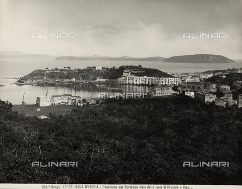 BGA-F-012595-0000 - View of the Island of Ischia's harbor
