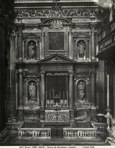 BGA-F-012800-0000 - La cappella Ruffo all'interno della chiesa dei Gerolamini a Napoli - Data dello scatto: 1900 ca. - Archivi Alinari, Firenze