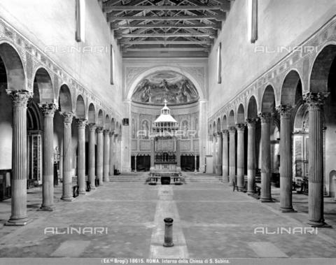 BGA-F-018615-0000 - Interior of the Church of Santa Sabina in Rome - Date of photography: 1915-1918 ca. - Alinari Archives-Brogi Archive, Florence