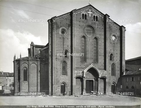 BGA-F-020769-0000 - Facciata della Chiesa di San Francesco a Bologna. - Data dello scatto: 1920 - 1930 ca. - Archivi Alinari, Firenze