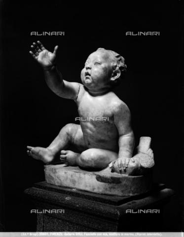 BGA-F-020801-0000 - Fanciullo con oca, marmo, Galleria degli Uffizi, Firenze - Data dello scatto: 1920-1930 ca. - Archivi Alinari-archivio Brogi, Firenze