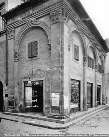 BGA-F-021278-0000 - View of the Loggia Rucellai in Florence - Date of photography: 1920-1930 ca. - Alinari Archives-Brogi Archive, Florence