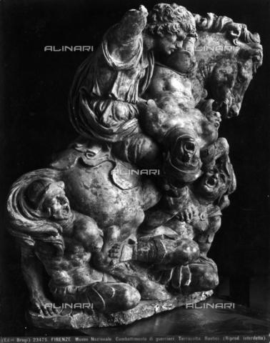BGA-F-023475-0000 - Combattimento di guerrieri, terracotta di Giovan Francesco Rustici, Museo Nazionale del Bargello, Firenze - Data dello scatto: 1920-1930 ca. - Archivi Alinari-archivio Brogi, Firenze