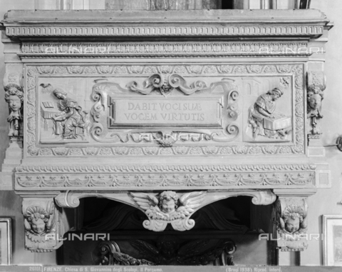 BGA-F-026161-0000 - Pulpit inside the church of San Giovannino degli Scolopi in via Martelli at the corner with via Gori in Florence - Date of photography: 1938 - Alinari Archives-Brogi Archive, Florence