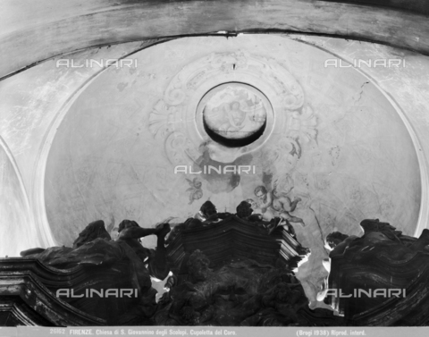 BGA-F-026162-0000 - Detail of the choir dome of the church of San Giovannino degli Scolopi in via Martelli at the corner with via Gori in Florence - Date of photography: 1938 - Alinari Archives-Brogi Archive, Florence