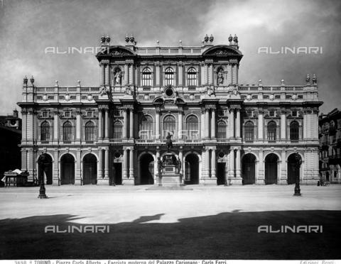 BGA-F-03698A-0000 - Faà§ade of the Palazzo Carignano, Giuseppe Bollati and Gaetano Ferri, Piazza Carlo Alberto, Turin.