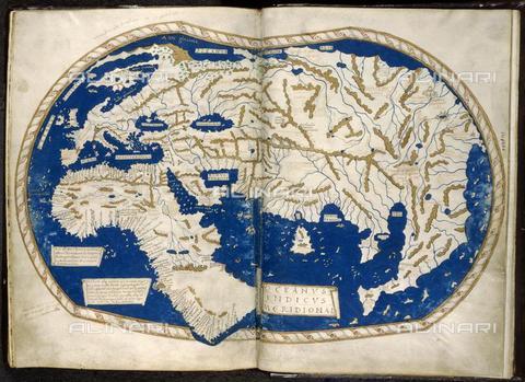 BLB-F-002625-0000 - Mappa del mondo di Enrico Martello (Heinrich Hammer) con la raffigurazione del Capo di Buona Speranza, doppiato da Bartolomeo Dias nel 1488, arte fiorentina, British Library, Londra - The British Library Board/Alinari Archives, Florence