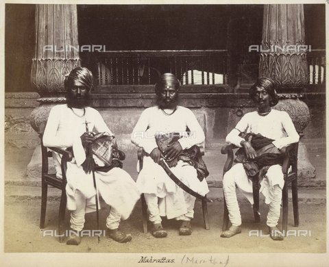 BLB-S-00C110-5205 - Mahrattas., Felice Beato, from 'A magnificent collection of photographic views and panoramas, taken by Signor F. Beato, during the Indian Mutiny in 1857-58, and the late war in China...' (c. 1862), Photo 6.(13),  British Library, London - The British Library Board/Alinari Archives, Florence