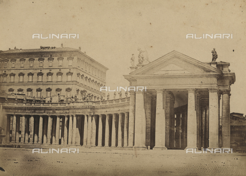 BPC-A-000001-0004 - View of the colonnade of St. Peter's Square in Rome - Data dello scatto: 1852 - Archivi Alinari, Firenze