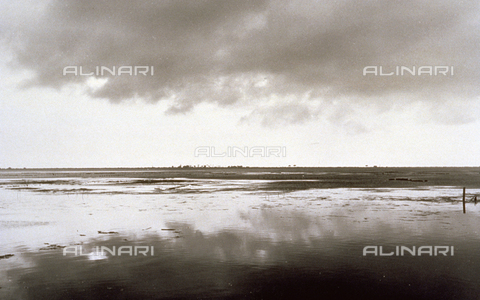 BVA-F-001270-0000 - View of the lagoon of Orbetello - Date of photography: 1955 -1960 ca. - Alinari Archives-Balocchi archive, Florence