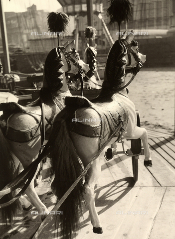 BVA-F-001418-0000 - Two carousel horses.