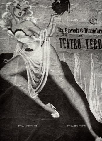 BVA-F-001432-0000 - Manifesto di uno spettacolo teatrale - Data dello scatto: 1950 ca. - Archivi Alinari, Firenze