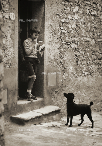 "BVA-F-001828-0000 - ""Man's Friend"". Postcard sent by the author to Vincenzo Balocchi"