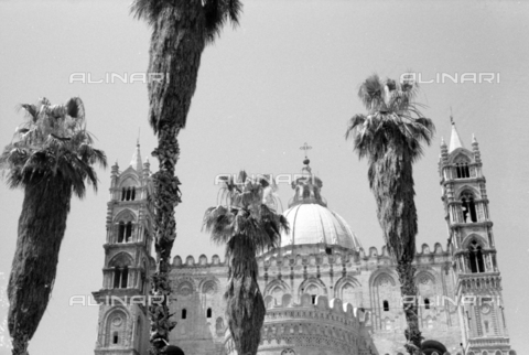 BVA-S-S10009-0015 - View of the Cathedral of Santa Maria Assunta in Palermo - Date of photography: 1960-1961 - Fratelli Alinari Museum Collections-Balocchi Archive, Florence