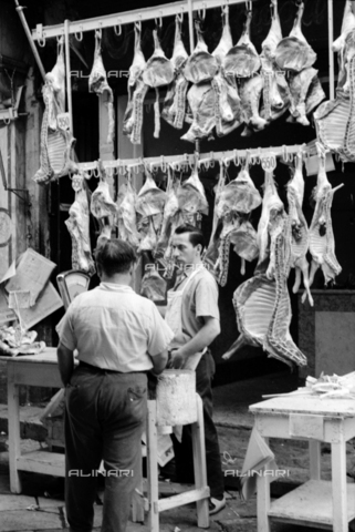 BVA-S-S10010-0031 - Sicilian butchery - Date of photography: 1960-1961 - Fratelli Alinari Museum Collections-Balocchi Archive, Florence