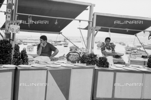 BVA-S-S10010-0038 - Mussel sellers - Date of photography: 1960-1961 - Fratelli Alinari Museum Collections-Balocchi Archive, Florence