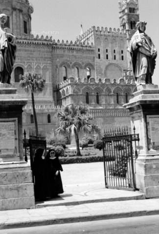 BVA-S-S10010-0042 - View of the Cathedral of Santa Vergine Maria Assunta in Palermo - Date of photography: 1960-1961 - Fratelli Alinari Museum Collections-Balocchi Archive, Florence