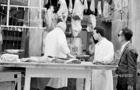 BVA-S-S10011-0014 - Sicilian butchery - Date of photography: 1960-1961 - Fratelli Alinari Museum Collections-Balocchi Archive, Florence