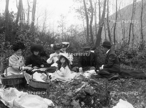 CAD-S-110014-0012 - Portrait of a group during a picnic in the countryside
