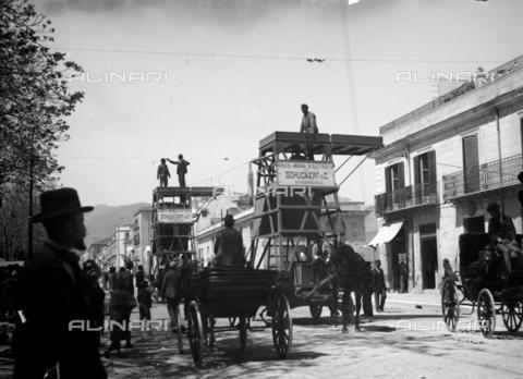CAD-S-420001-0009 - Installation works of the electric line for the tram of the Schuckert & C, Palermo - Data dello scatto: 01/08/1899-31/10/1899 - Archivi Alinari, Firenze