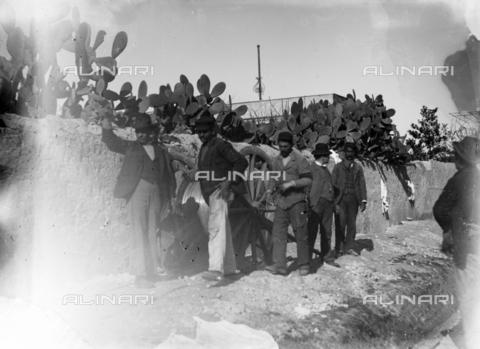 CAD-S-420001-0020 - Men at work with a steel cable, Palermo - Data dello scatto: 1899 - Archivi Alinari, Firenze