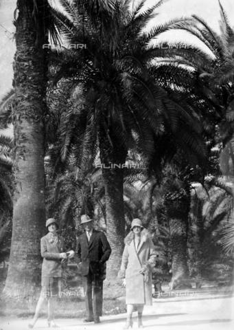 CAD-S-420005-0009 - Group portrait in front of palm trees, Palermo - Data dello scatto: 14/04/1928 - Archivi Alinari, Firenze
