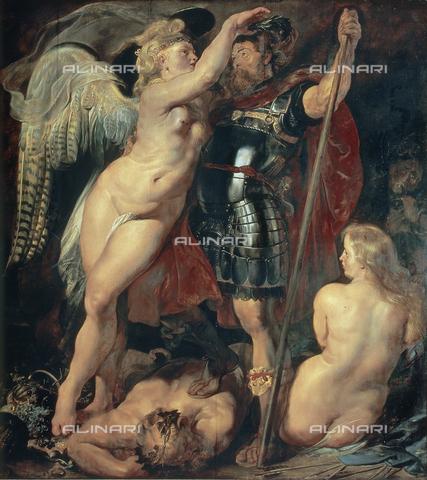 """CAL-F-001553-0000 - Peter Paul Rubens (1577-1640), """"Incoronazione della Vittoria"""", Alte Pinakothek, Monaco - Data dello scatto: 1980 ca. - Archivi Alinari, Firenze"""