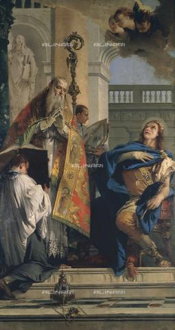 CAL-F-001594-0000 - San Massimo e Osvaldo, dipinto di Giambattista Tiepolo conservato nella Chiesa di San Massimo a Padova - Data dello scatto: 1991 - Archivi Alinari, Firenze