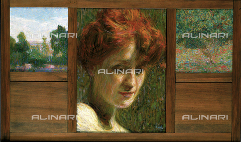 CAL-F-001693-0000 - 'Portrait of a Woman and Two Landscapes', work by Giacomo Balla in a private collection in Verona - Date of photography: 1991 - Alinari Archives, Florence