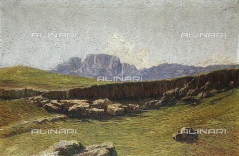 CAL-F-001948-0000 - Meriggio sul Grosté, olio su tela di Attilio Lasta, Collezione privata - Data dello scatto: 1991 - Archivi Alinari, Firenze