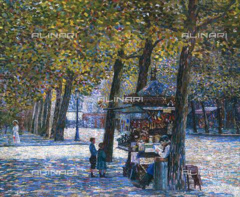 CAL-F-001949-0000 - Le Marchand d'oublies (Avenue Trudaine), olio su tela di Gino Severini, Collezione privata - Data dello scatto: 1991 - Archivi Alinari, Firenze