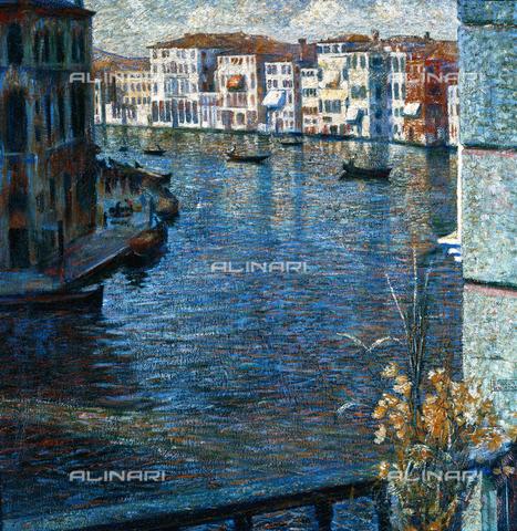 CAL-F-001950-0000 - Il Canal Grande, olio su tela di Umberto Boccioni, Collezione privata - Data dello scatto: 1991 - Archivi Alinari, Firenze