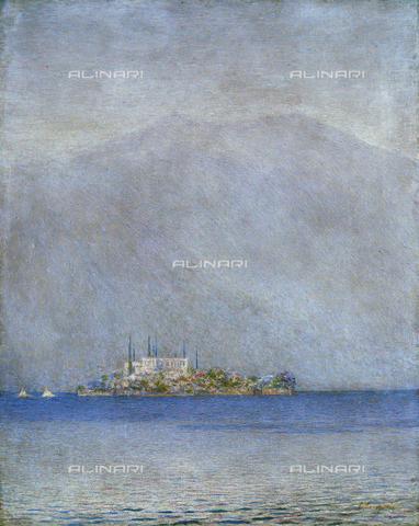CAL-F-001955-0000 - The island of San Giulio, oil on canvas by Emilio Longoni, Barlassina, Cassa Rurale ed Artigiana - Data dello scatto: 1991 - Archivi Alinari, Firenze