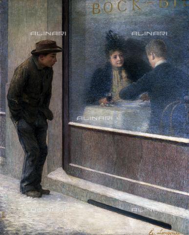 CAL-F-001957-0000 - Riflessioni di un affamato (o Contrasti sociali), olio su tela di Emilio Longoni, Biella, Museo Civico - Data dello scatto: 1991 - Archivi Alinari, Firenze