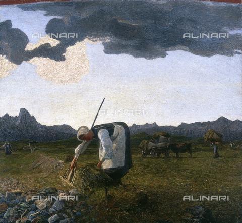 CAL-F-001958-0000 - Hay harvest, oil on canvas by Giovanni Segantini, Segantini Museum, St. Moritz, Switzerland - Data dello scatto: 1991 - Archivi Alinari, Firenze