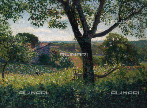 CAL-F-001962-0000 - Poitou landscape, oil on canvas by Gino Severini, private collection - Data dello scatto: 1991 - Archivi Alinari, Firenze